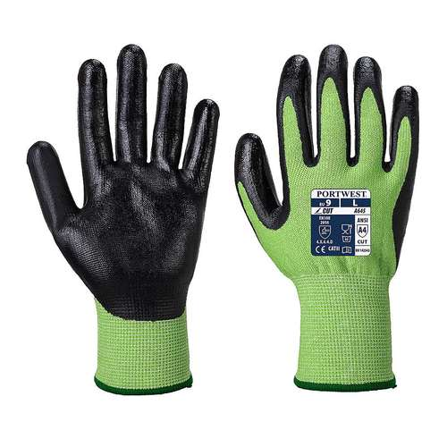 Portwest Green Cut Nitrile Foam Gloves