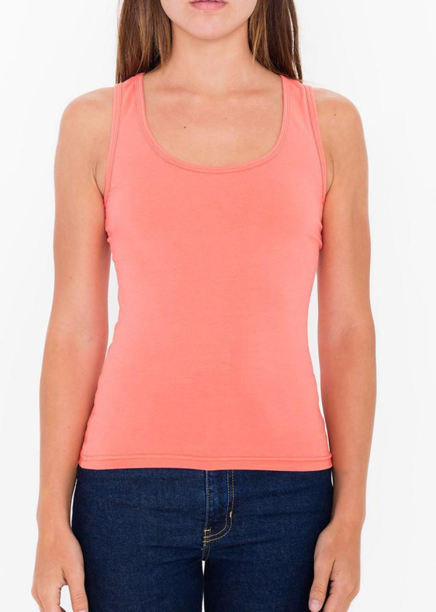 American Apparel Womens Spandex Tank Top in Coral (Product Code: 8308W)