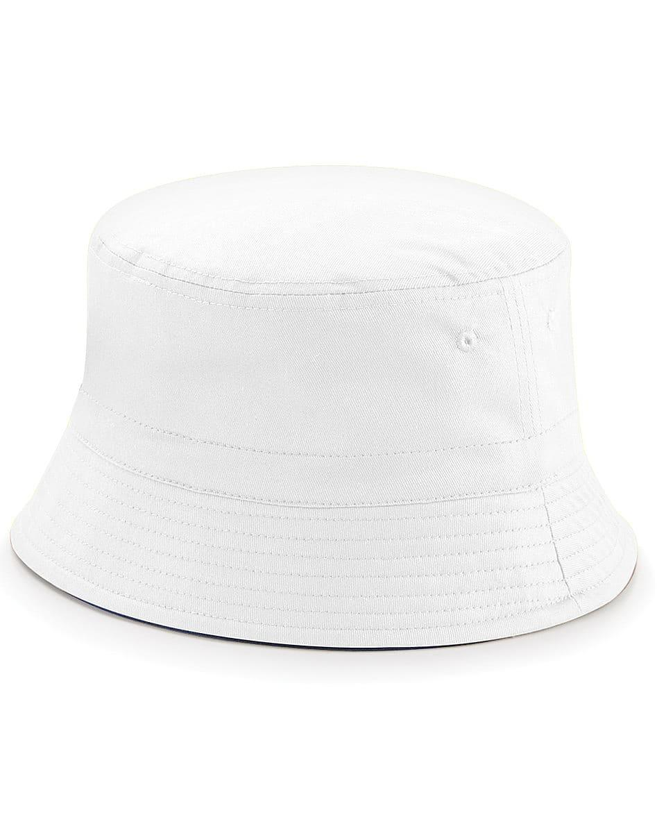 Beechfield Reversible Bucket Hat in French Navy / White (Product Code: B686)