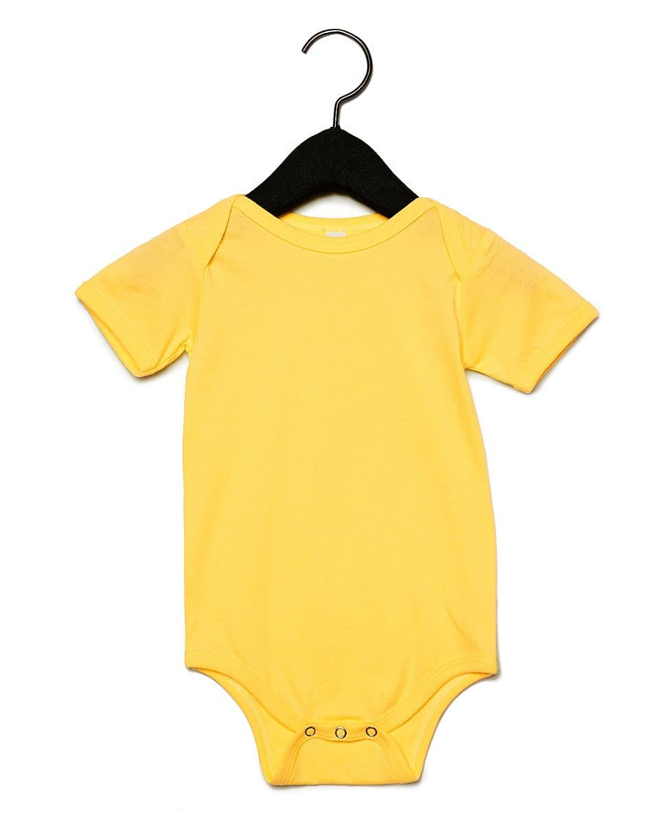 Bella Baby Jersey Short-Sleeve Onesie in Yellow (Product Code: BE100B)