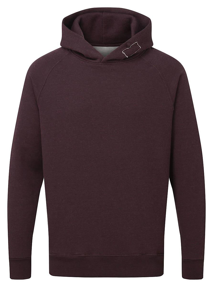 FDM Tagless Media Hoodie in Heather Burgundy (Product Code: TH002)