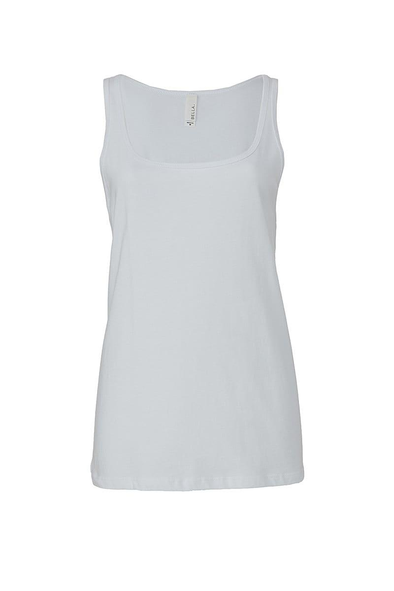 Bella Womens Relaxed Jersey Tank in White (Product Code: BE6488)