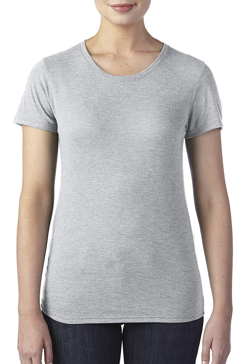 Anvil Womens Triblend T-Shirt in Heather Grey (Product Code: 6750L)