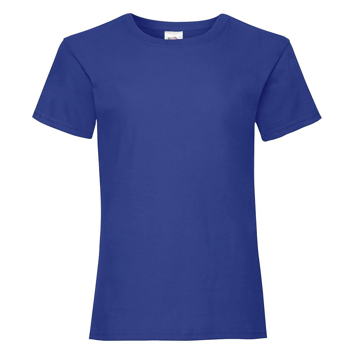 Fruit Of The Loom Girls Valueweight T-Shirt in Royal Blue (Product Code: 61005)