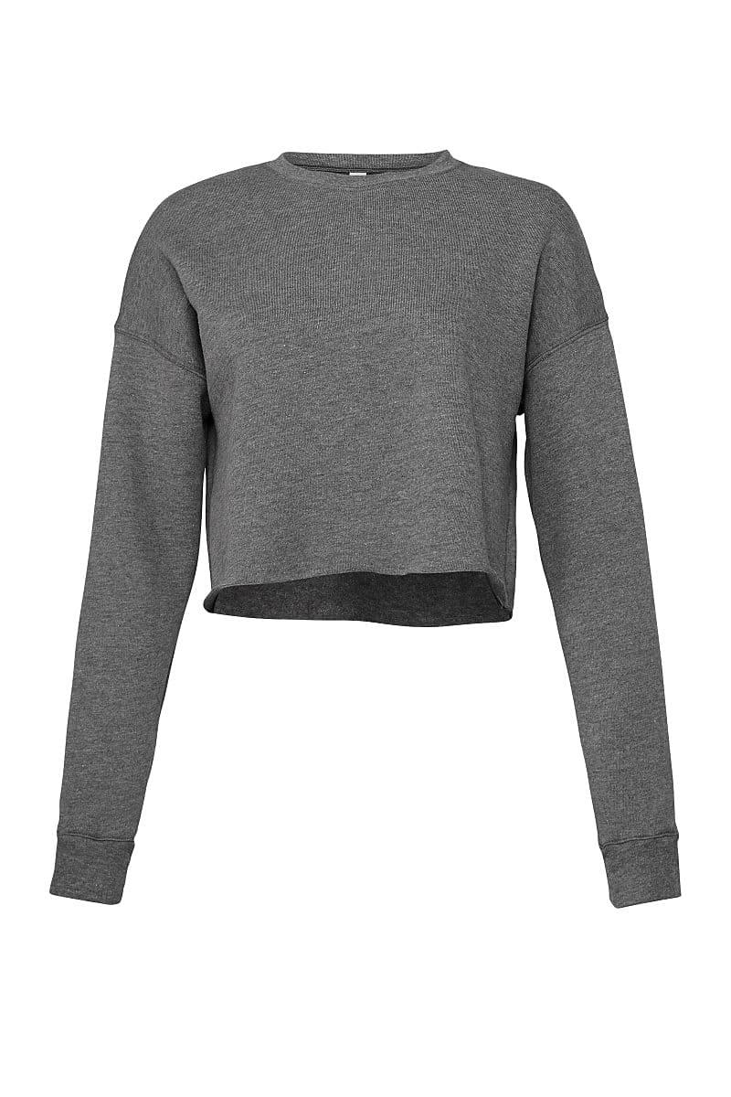 Bella+Canvas Womens Cropped Fleece Crew in Deep Heather (Product Code: BE7503)