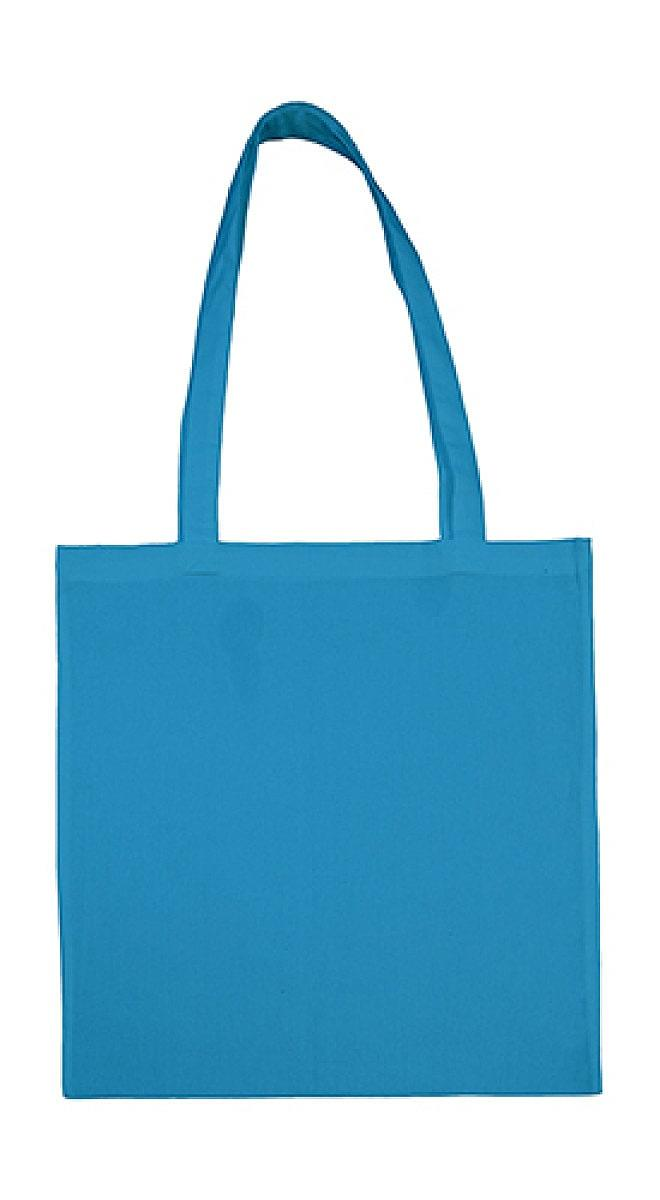 Jassz Bags Beech Cotton Long-Handle Bag in Mid Blue (Product Code: 3842LH)