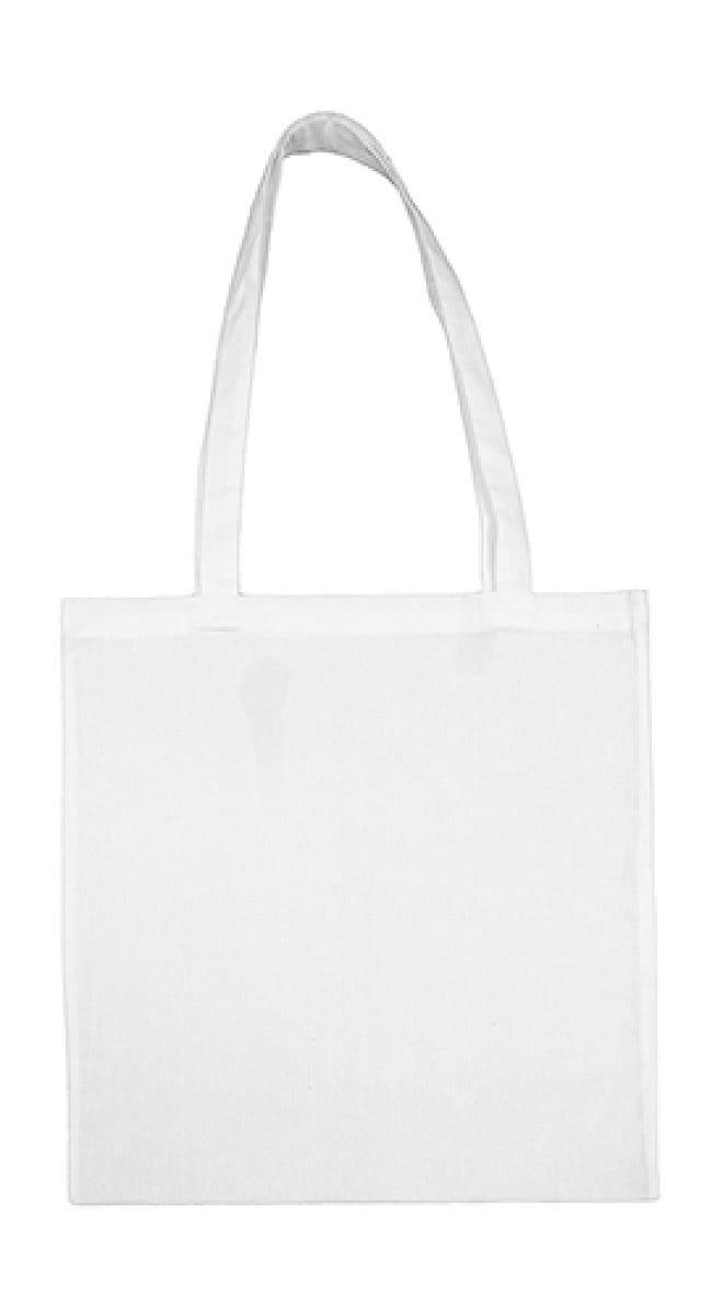 Jassz Bags Beech Cotton Long-Handle Bag in Snow White (Product Code: 3842LH)