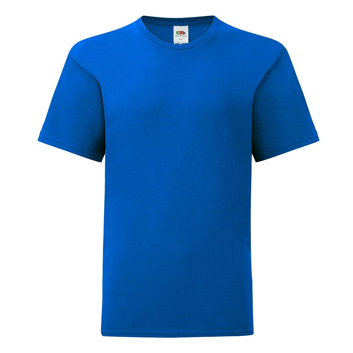 Fruit Of The Loom Kids Iconic T-Shirt in Royal Blue (Product Code: 61023)