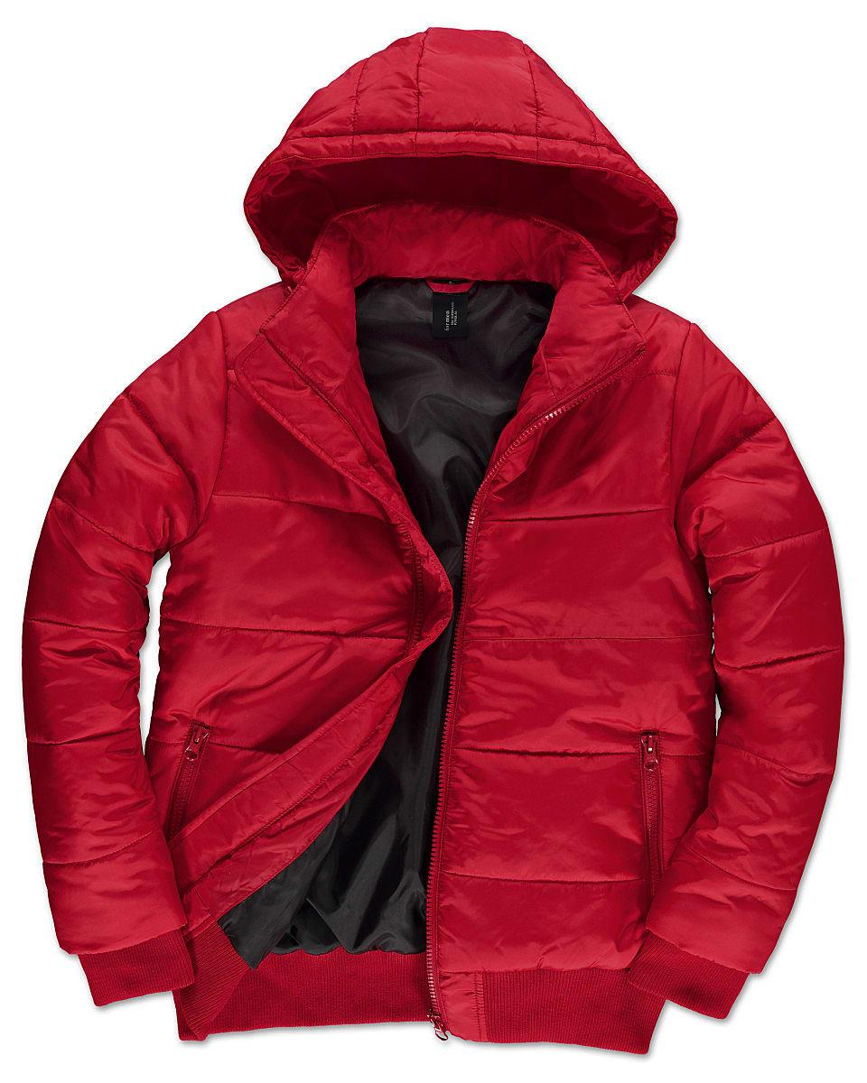 B&C Mens Superhood Jacket in Red (Product Code: JM940)