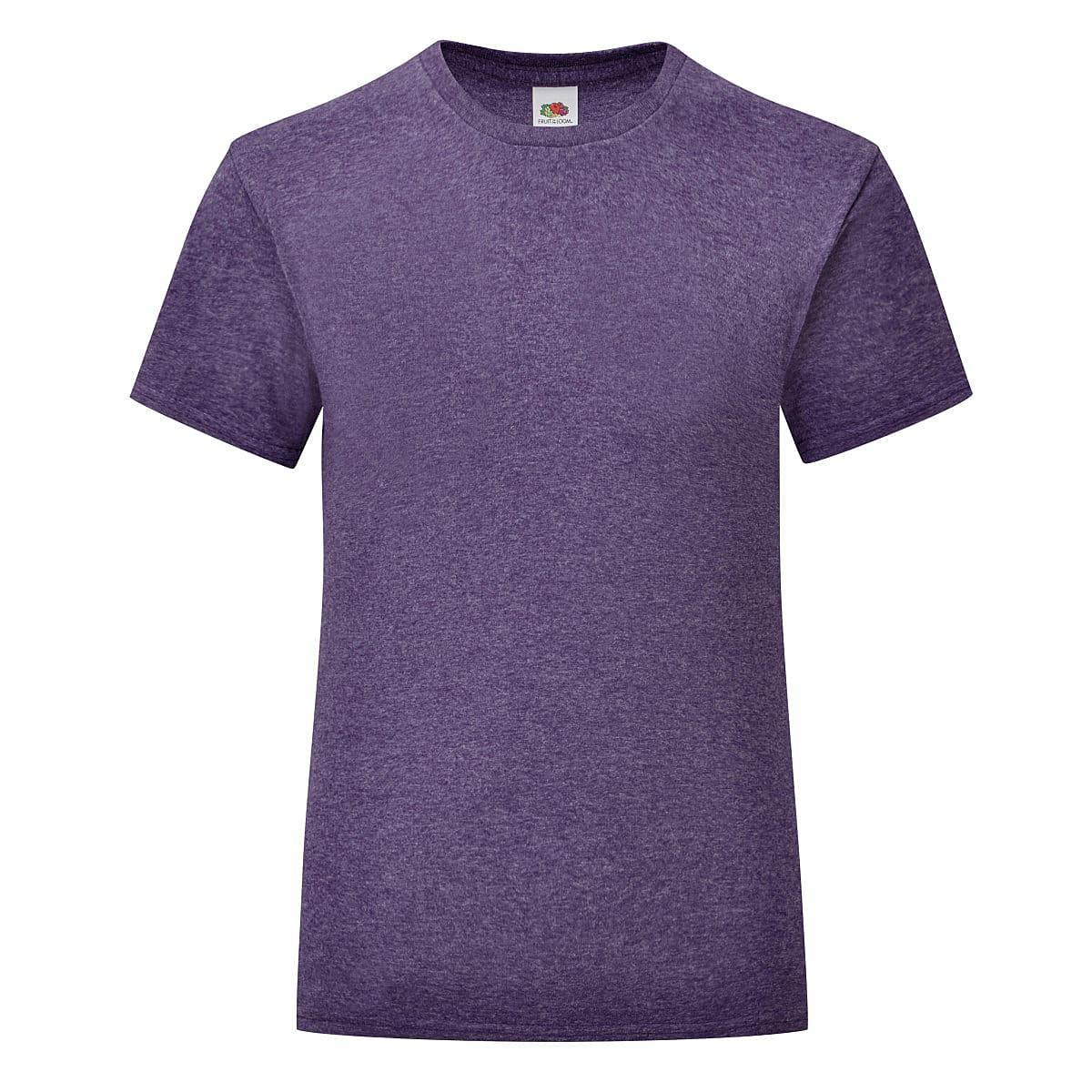 Fruit Of The Loom Girls Iconic T-Shirt in Heather Purple (Product Code: 61025)