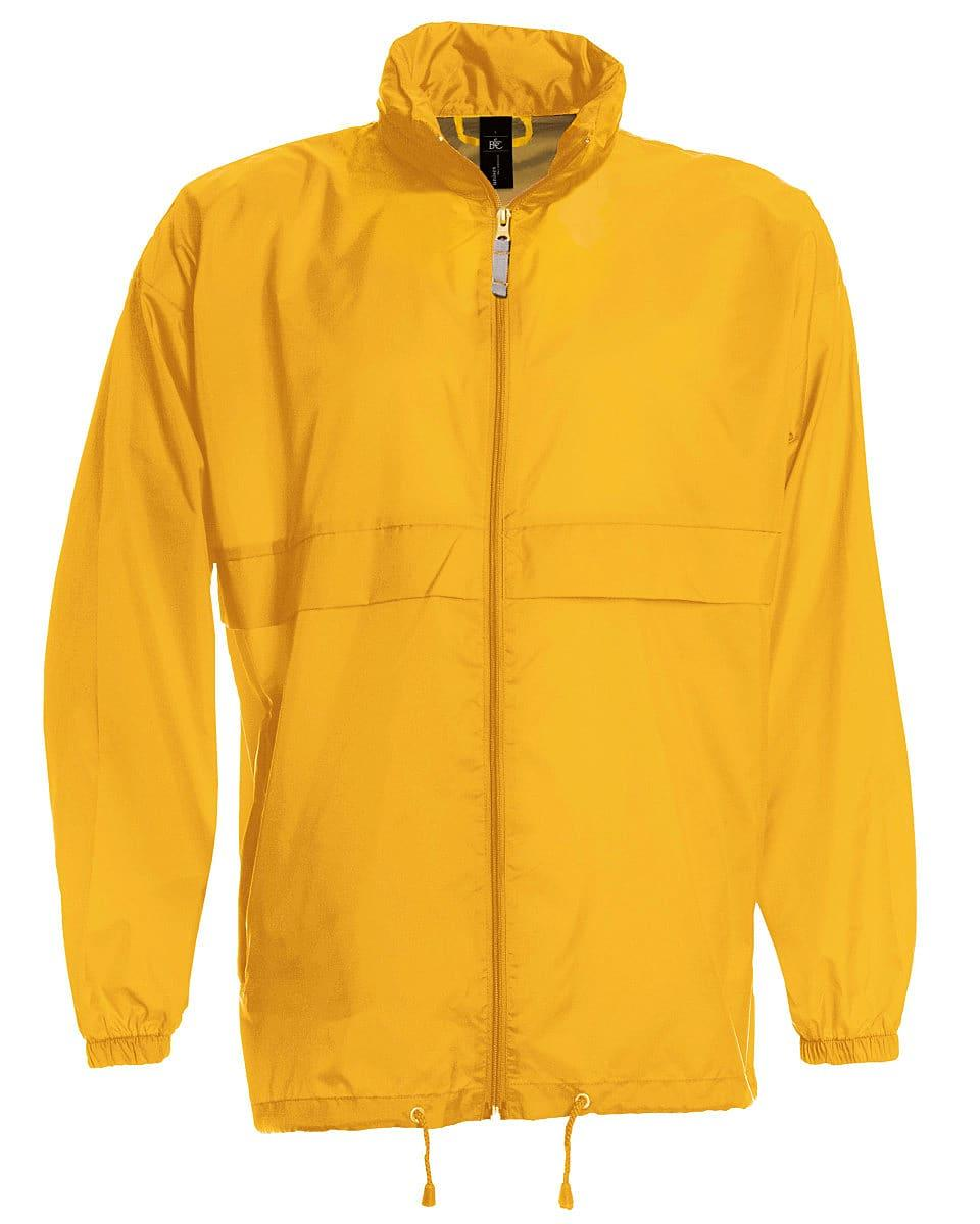 B&C Mens Sirocco Lightweight Jacket in Gold (Product Code: JU800)