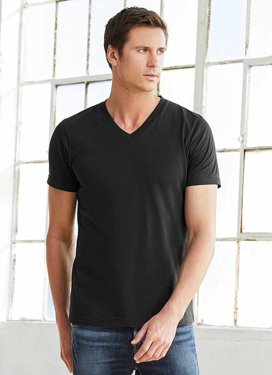 Bella Canvas Mens Jersey Short-Sleeve Vneck T-Shirt in True Royal (Product Code: CA3005)