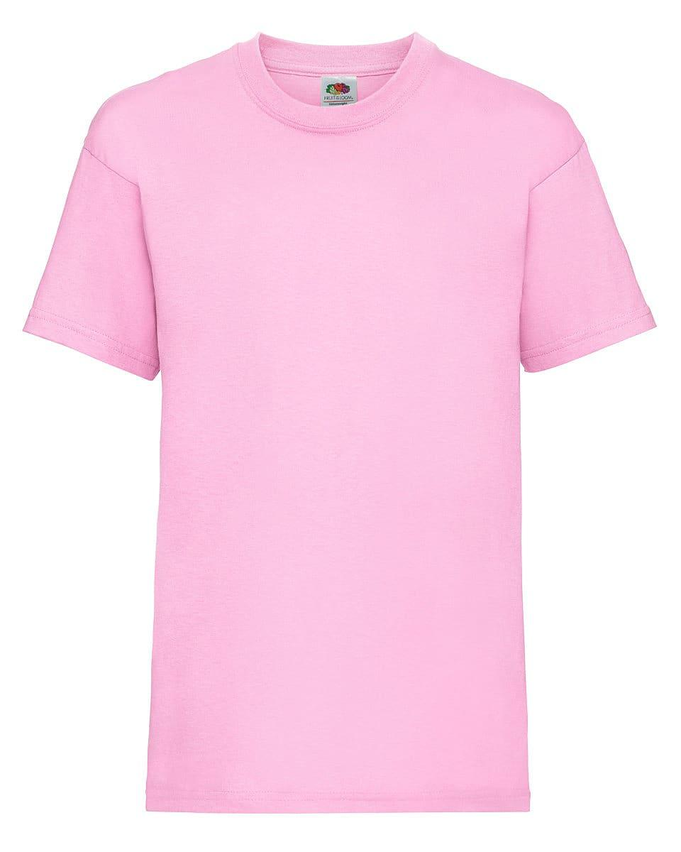Fruit Of The Loom Childrens Valueweight T-Shirt in Light Pink (Product Code: 61033)