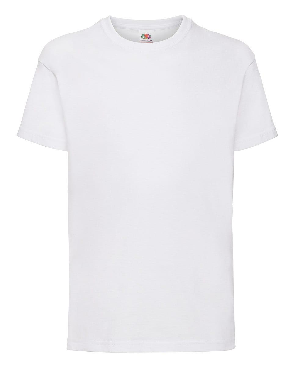Fruit Of The Loom Childrens Valueweight T-Shirt in White (Product Code: 61033)