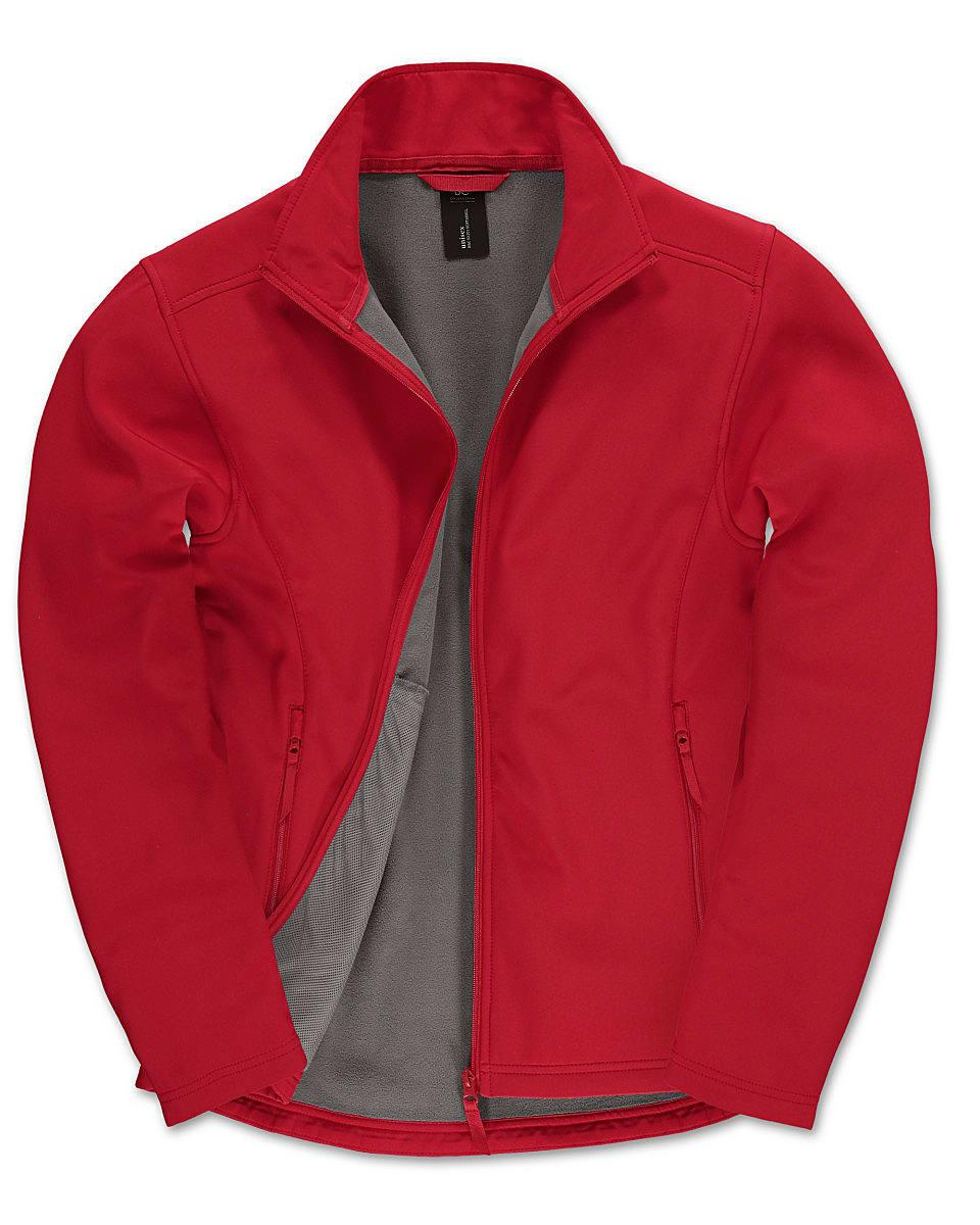 B&C Mens ID.701 Softshell Jacket in Red (Product Code: JUI62)