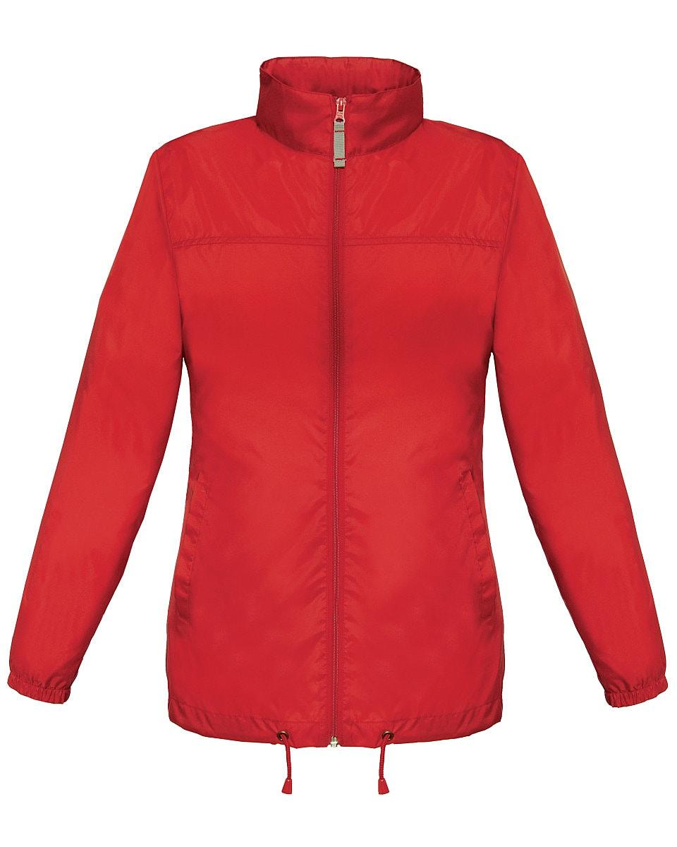 B&C Womens Sirocco Lightweight Jacket in Red (Product Code: JW902)