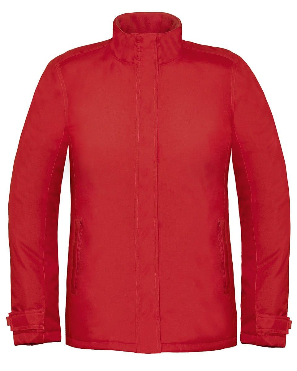 B&C Womens Real+ Jacket in Deep Red (Product Code: JW925)