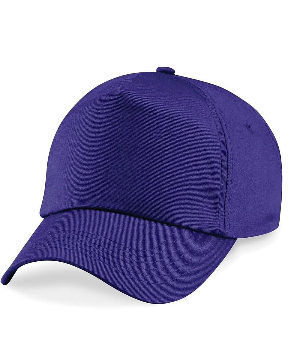 Beechfield Junior Original 5 Panel Cap in Purple (Product Code: B10B)