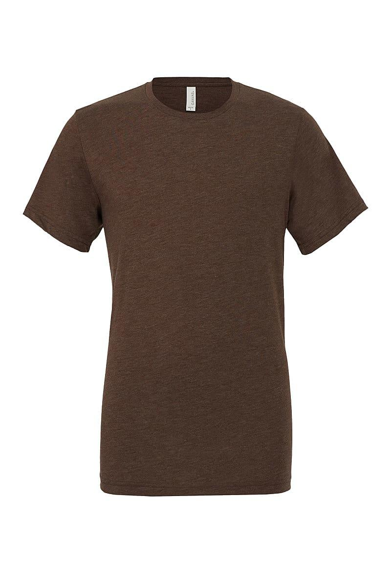Bella Canvas Mens Tri-blend Short-Sleeve T-Shirt in Brown Triblend (Product Code: CA3413)