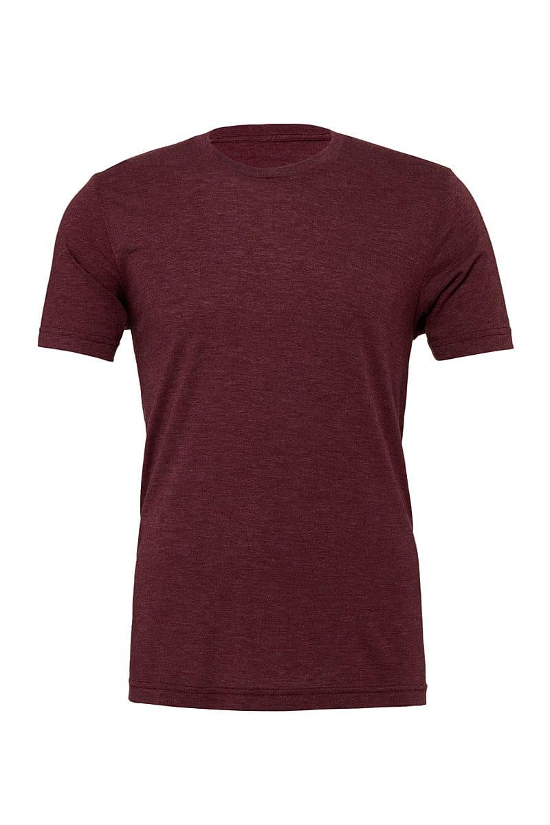 Bella Canvas Mens Tri-blend Short-Sleeve T-Shirt in Maroon Triblend (Product Code: CA3413)