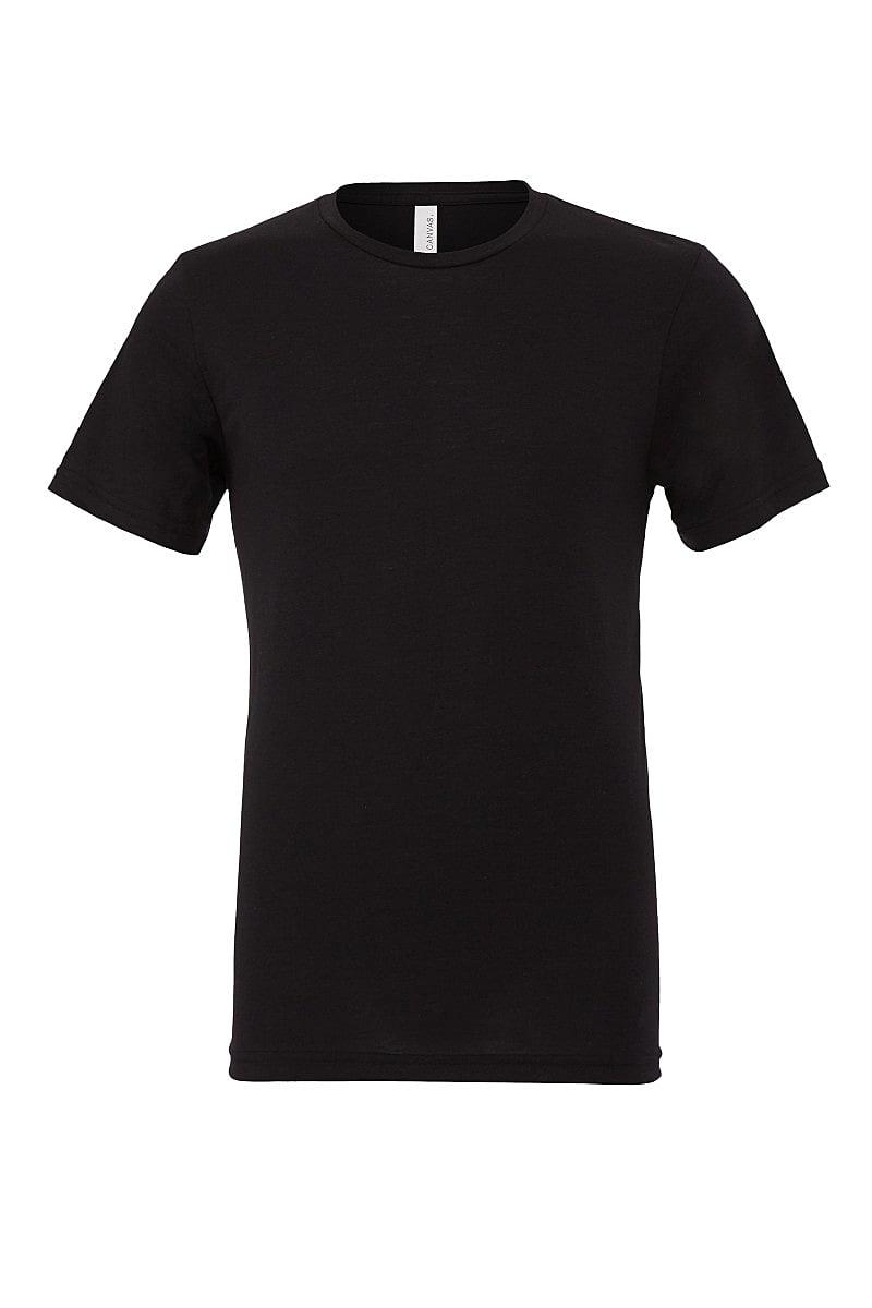 Bella Canvas Mens Tri-blend Short-Sleeve T-Shirt in Solid Black Triblend (Product Code: CA3413)
