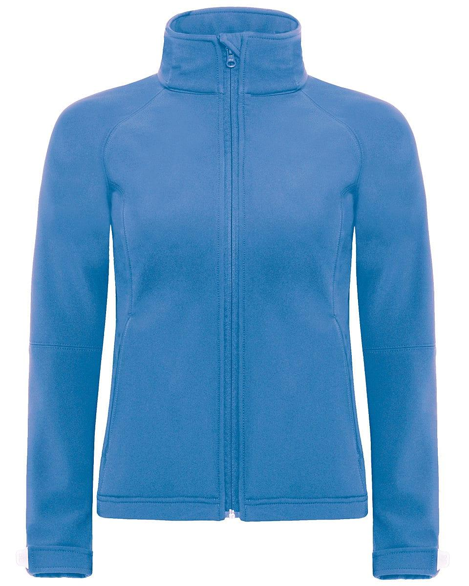 B&C Womens Hooded Softshell Jacket in Azure Blue (Product Code: JW937)