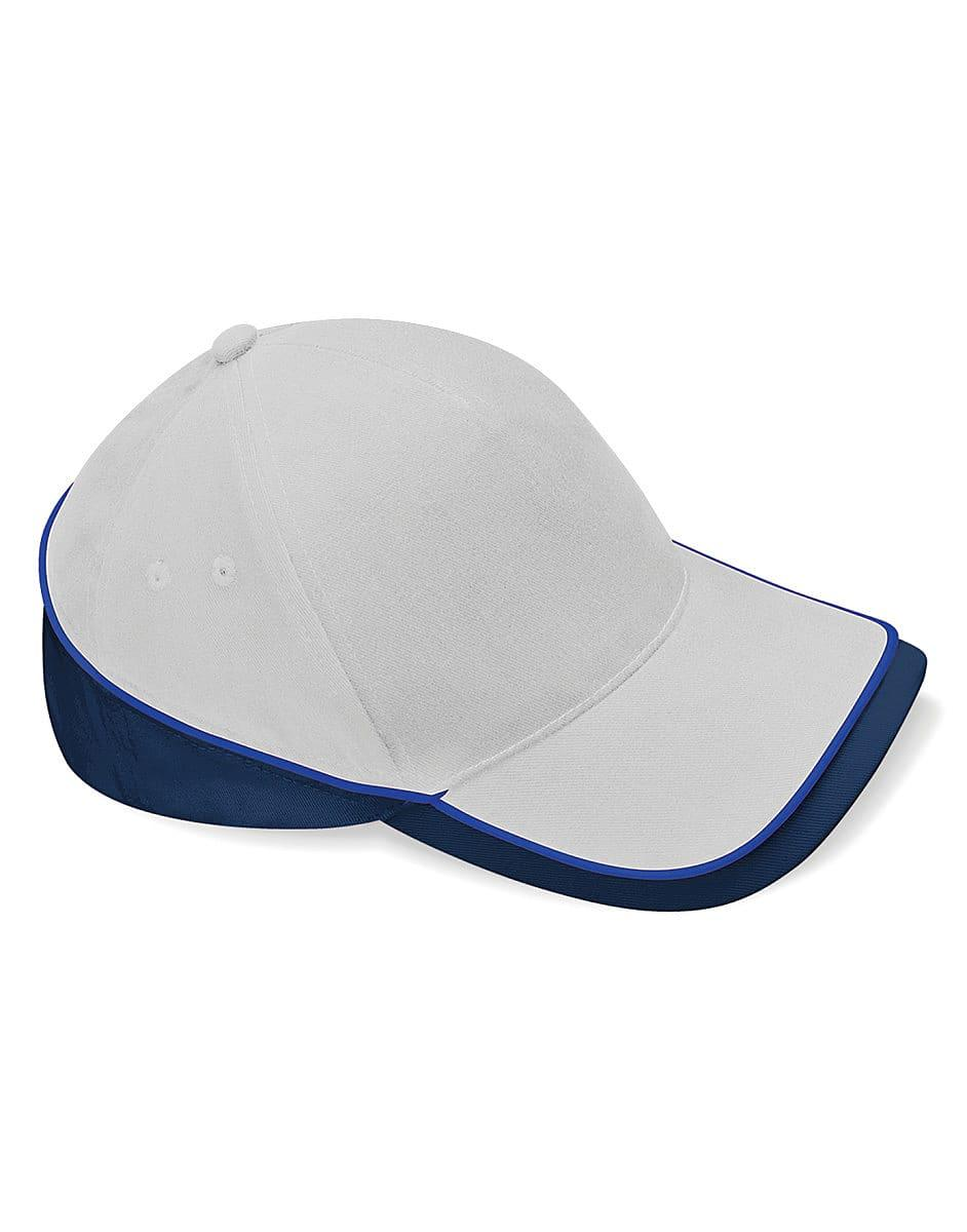 Beechfield Teamwear Competition Cap in Light Grey / French Navy / Bright Royal (Product Code: B171)