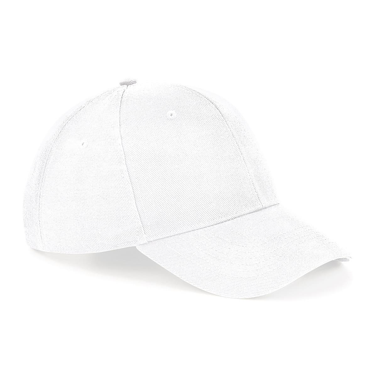 Beechfield Untimate 6 Panel Cap in White (Product Code: B18)