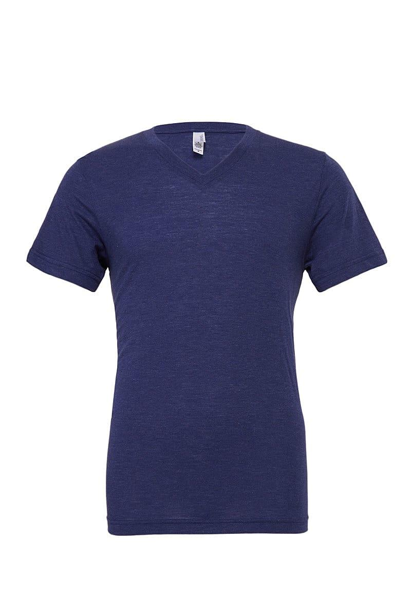 Bella Triblend V-Neck T-Shirt in Navy Triblend (Product Code: CA3415)