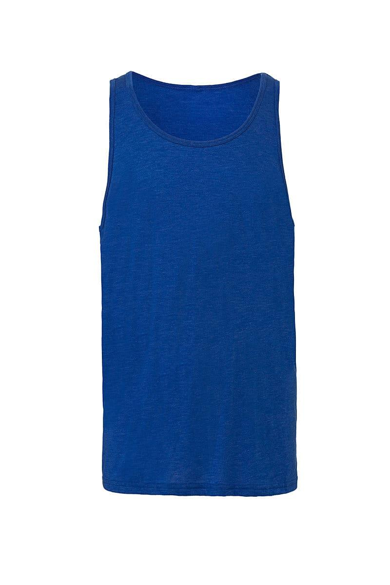 Bella Unisex Jersey Tank in True Royal Triblend (Product Code: CA3480)