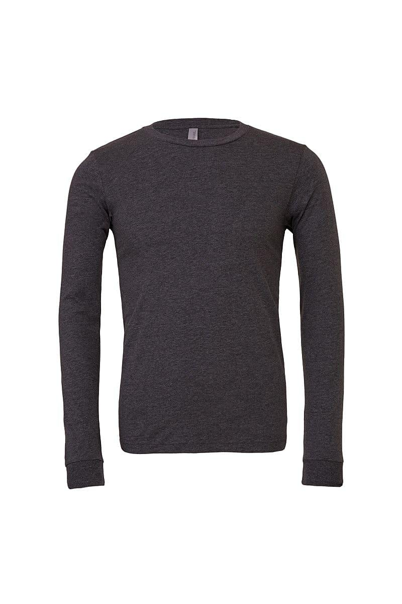 Bella Unisex Jersey Long-Sleeve T-Shirt in Dark Grey Heather (Product Code: CA3501)
