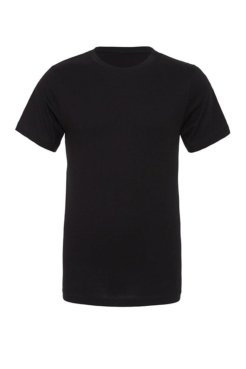 Bella Canvas Unisex Poly-Cotton Short-Sleeve T-Shirt in Black (Product Code: CA3650)