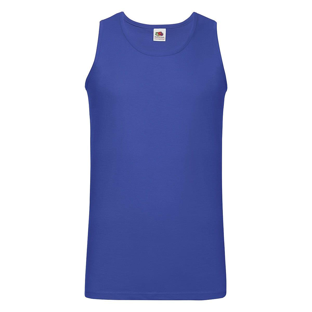 Fruit Of The Loom Athletic Vest in Royal Blue (Product Code: 61098)