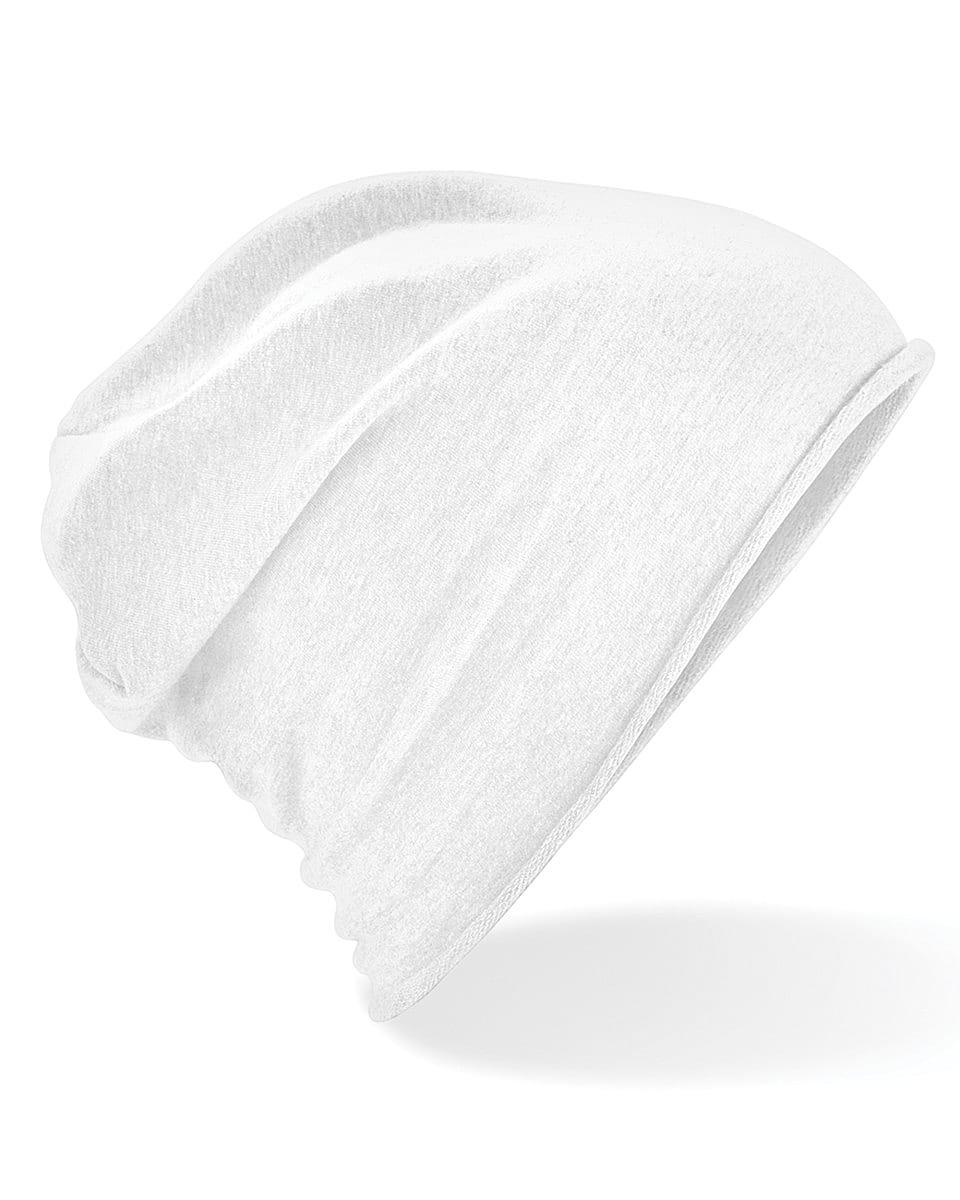 Beechfield Jersey Beanie Hat in White (Product Code: B361)