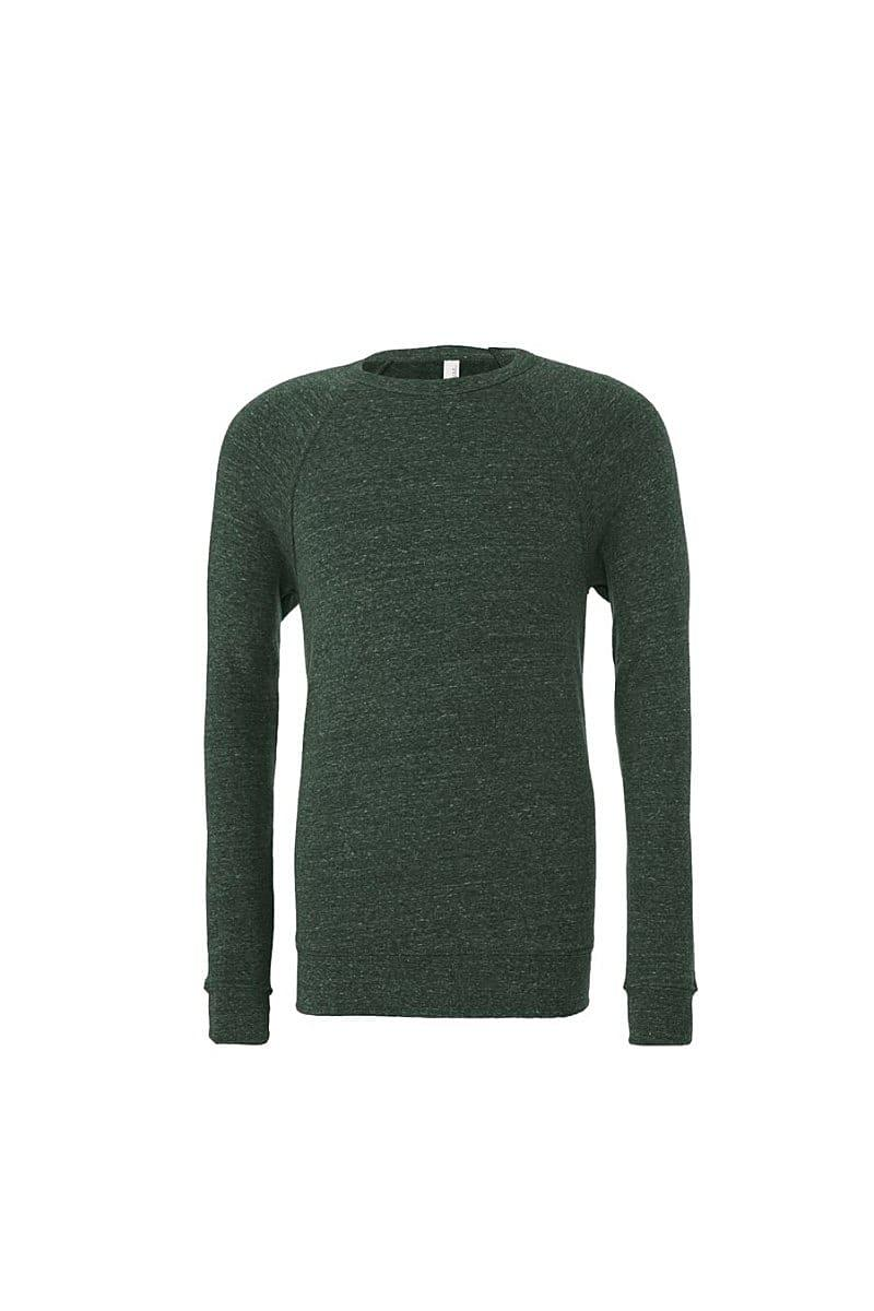 Bella Canvas Unisex Sponge Fleece Raglan Sweater in Heather Forest (Product Code: CA3901)
