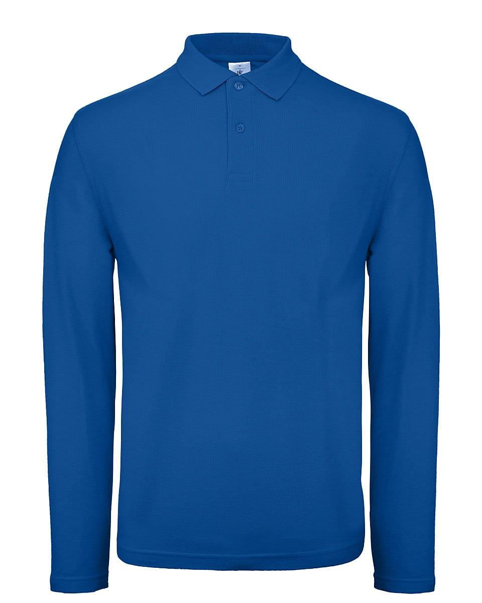 B&C Mens ID.001 Long-Sleeve Polo Shirt in Royal Blue (Product Code: PUI12)