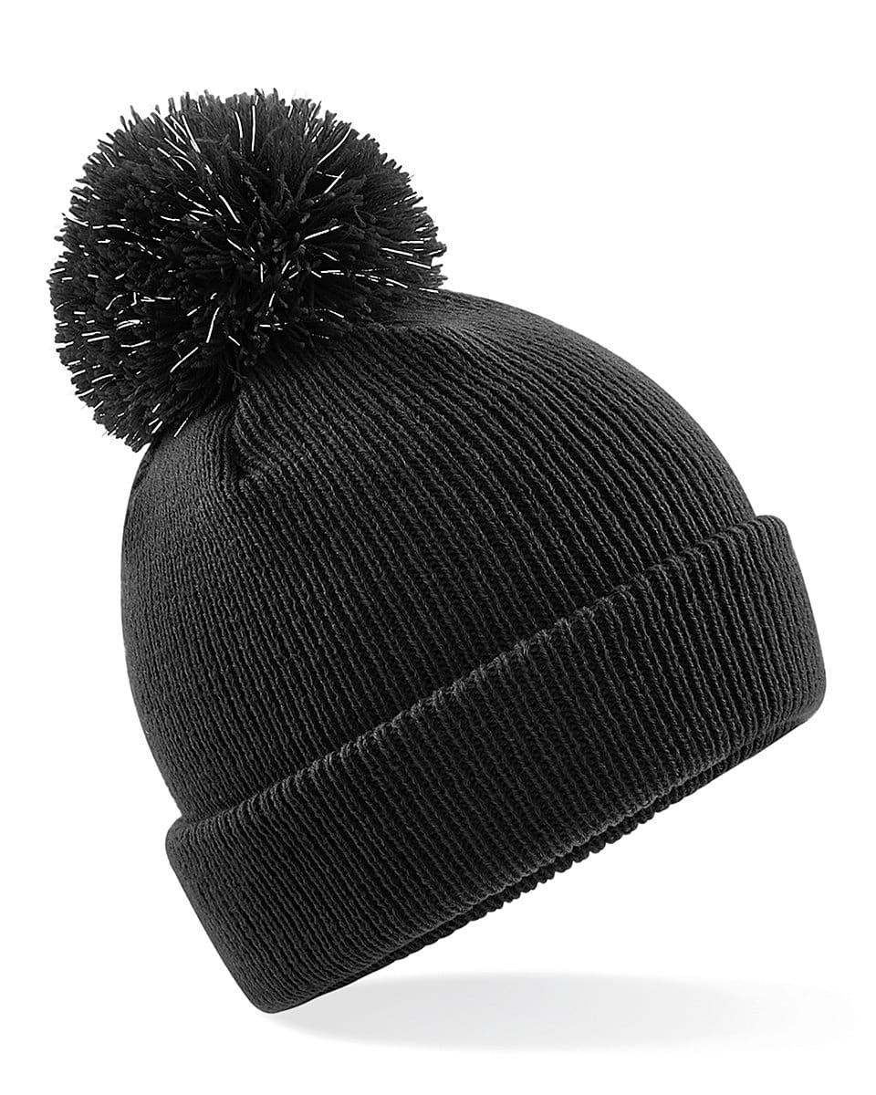 Beechfield Junior Reflective Beanie Hat in Black (Product Code: B406B)
