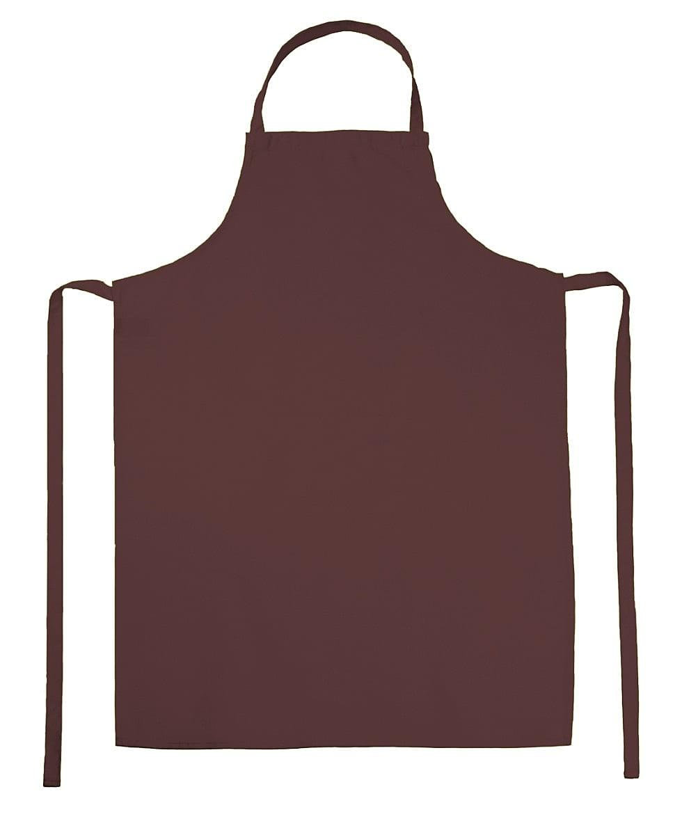 Jassz Bistro Paris Bib Apron in Brown (Product Code: JG21)