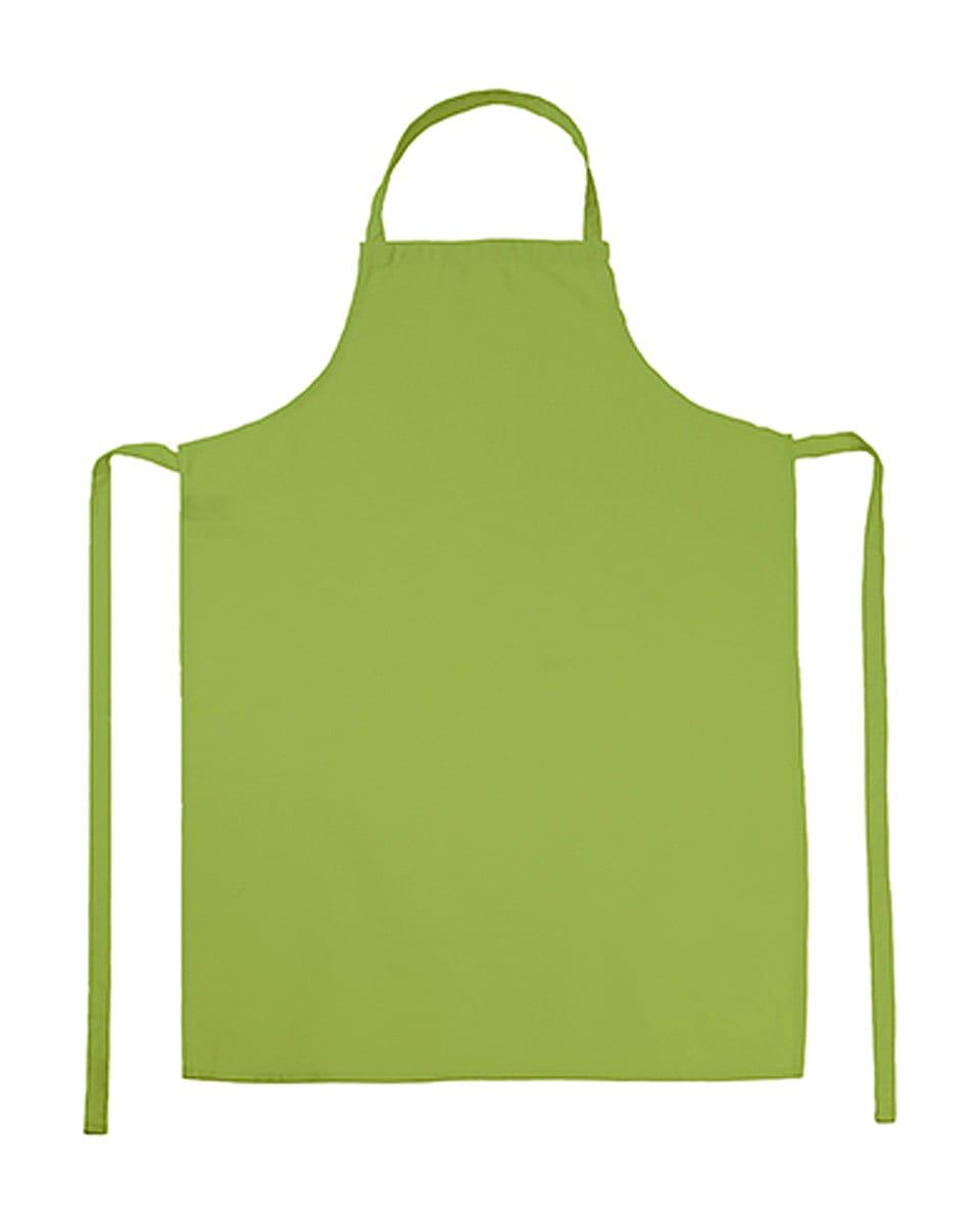 Jassz Bistro Paris Bib Apron in Lime (Product Code: JG21)