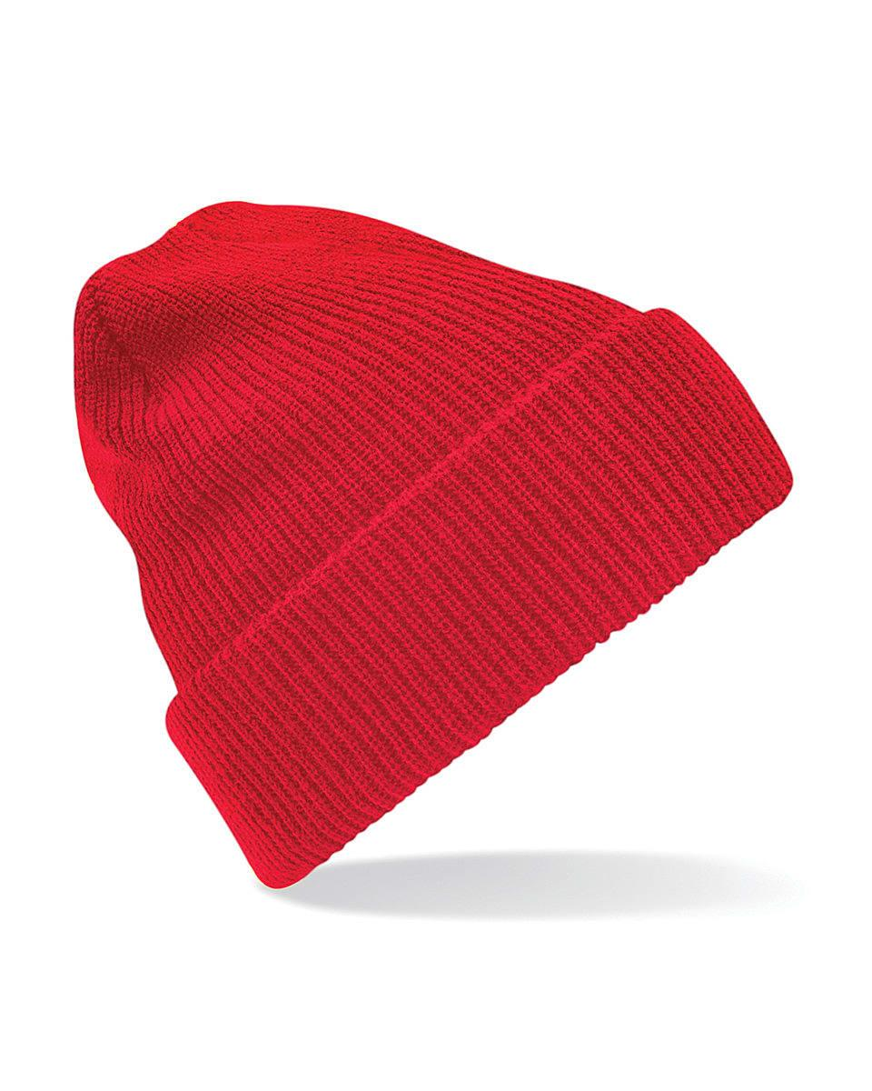 Beechfield Heritage Beanie Hat in Classic Red (Product Code: B425)