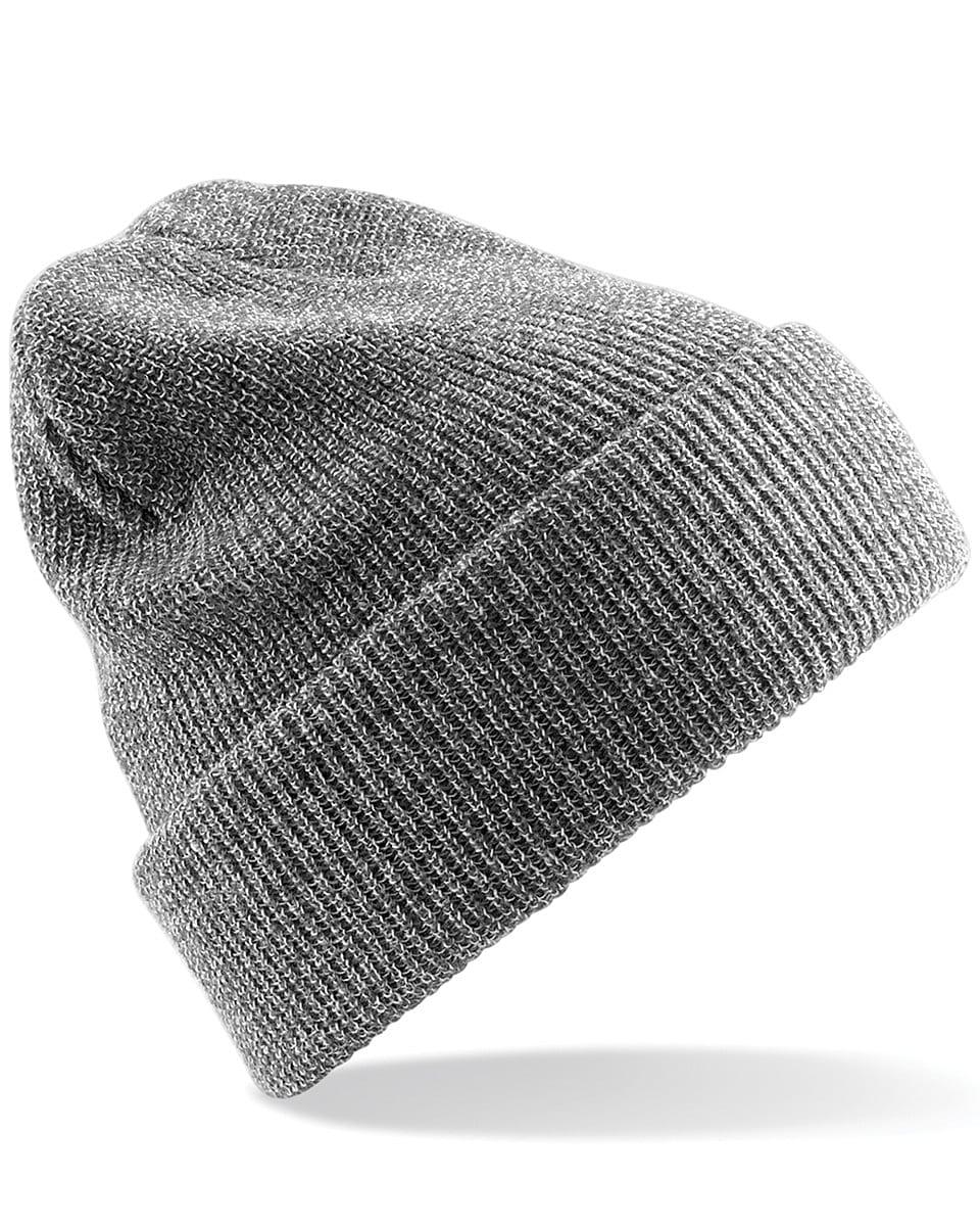 Beechfield Heritage Beanie Hat in Heather Grey (Product Code: B425)
