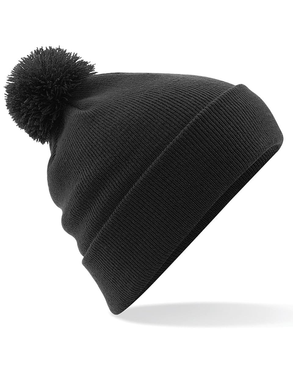 Beechfield Original Pom Pom Beanie Hat in Black (Product Code: B426)