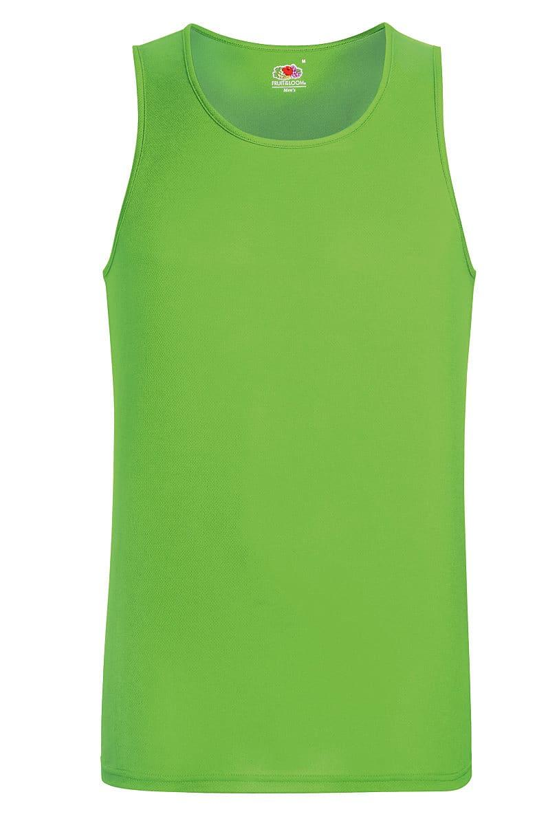 Fruit Of The Loom Mens Performance Vest in Lime (Product Code: 61416)