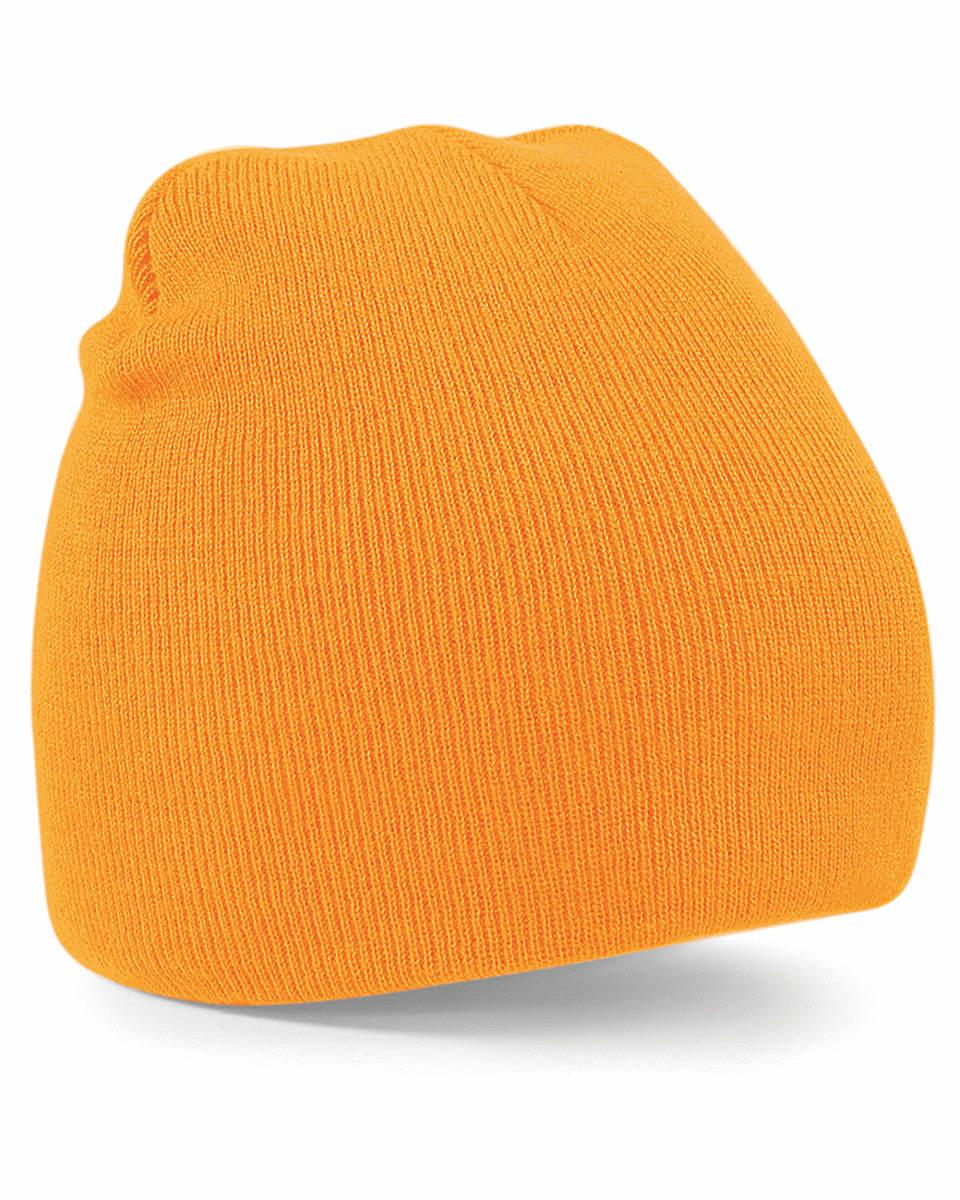 Beechfield Original Pull-On Beanie Hat in Fluorescent Orange (Product Code: B44)