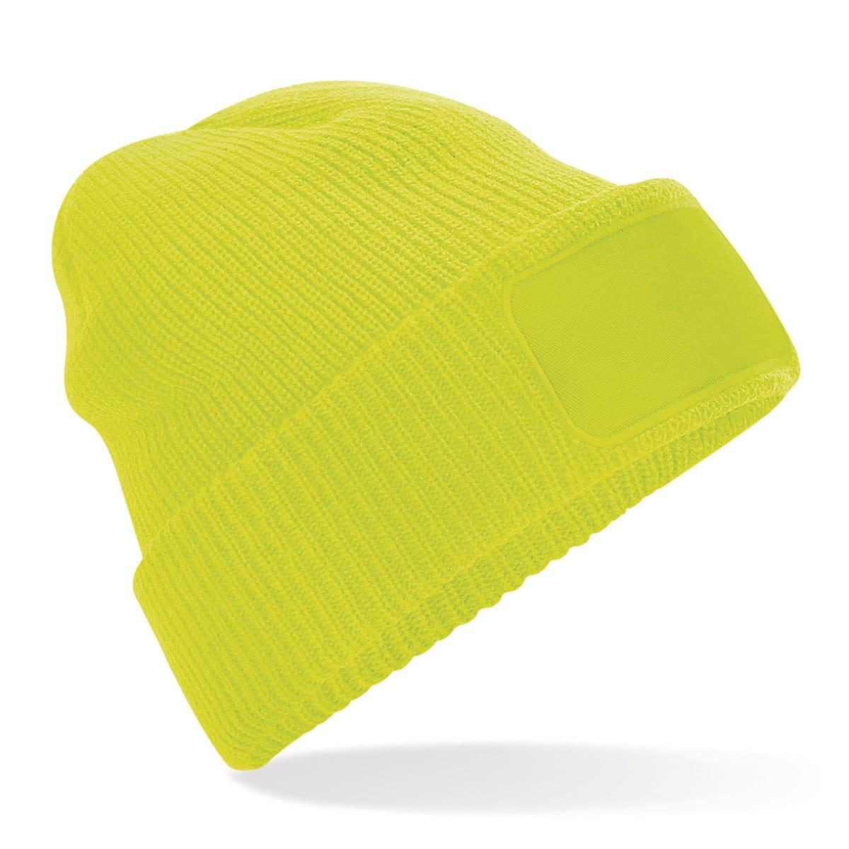 Beechfield Thinsulate Printer Beanie Hat in Fluorescent Yellow (Product Code: B440)