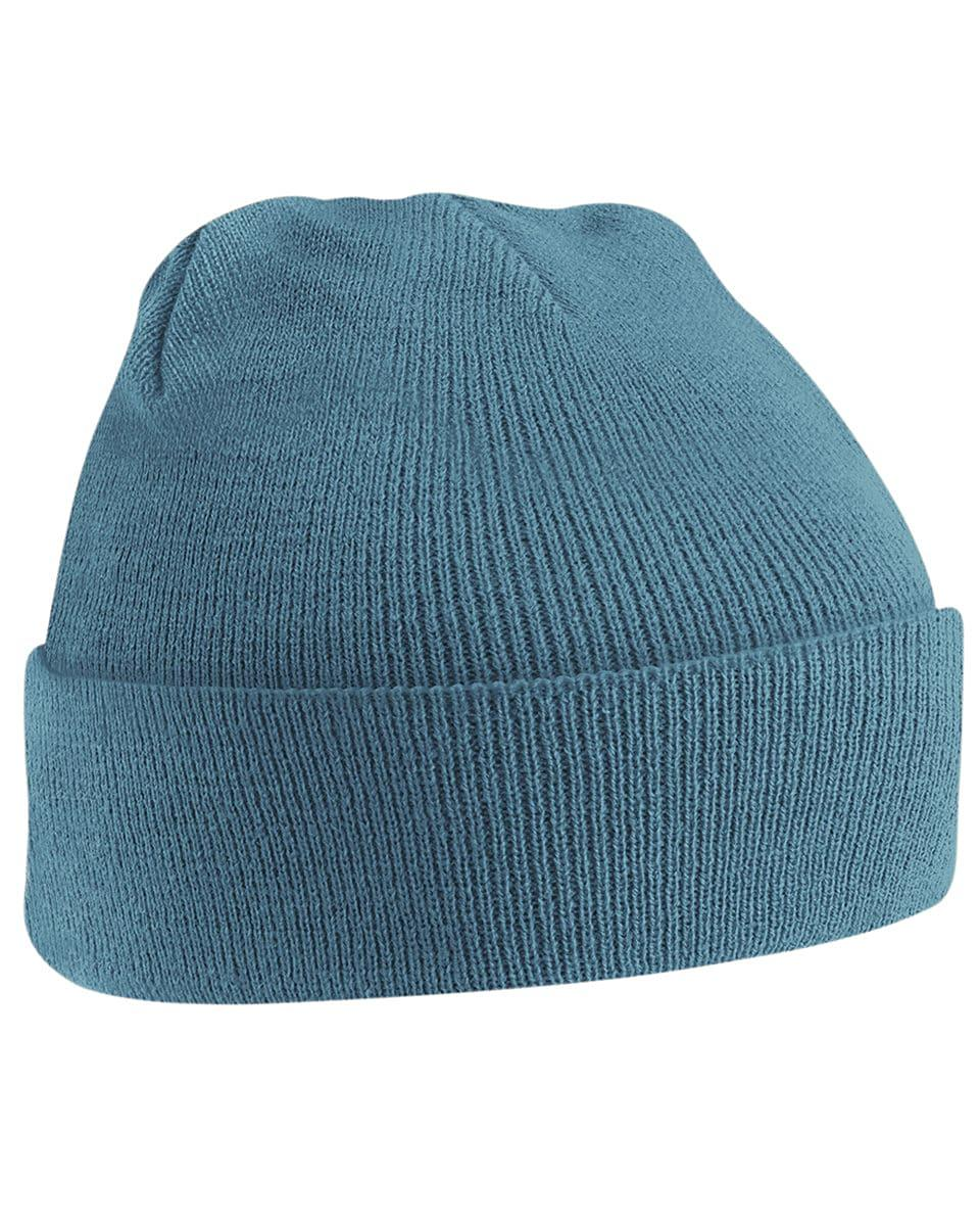 Beechfield Original Cuffed Beanie Hat in Airforce Blue (Product Code: B45)