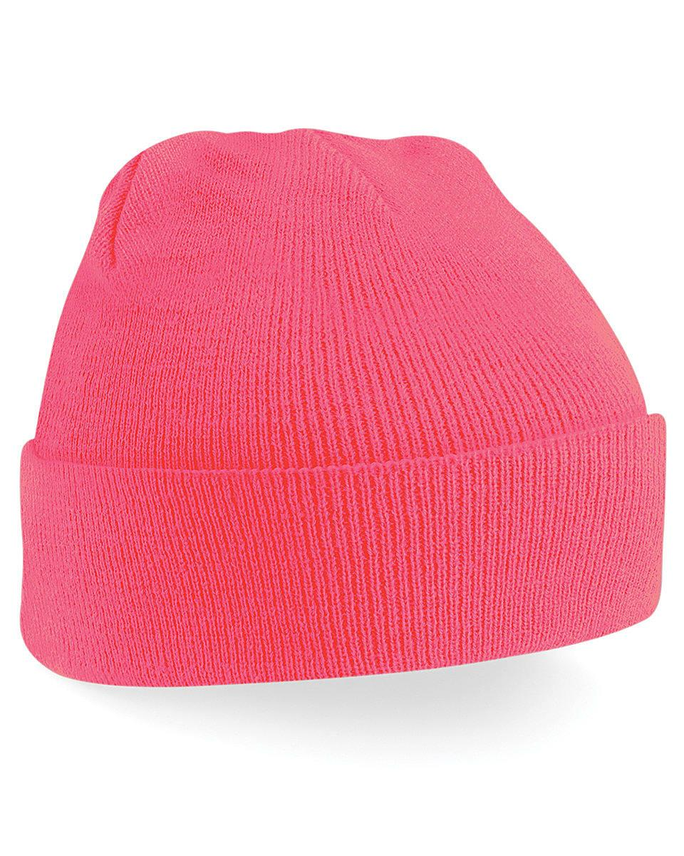 Beechfield Original Cuffed Beanie Hat in Fluorescent Pink (Product Code: B45)