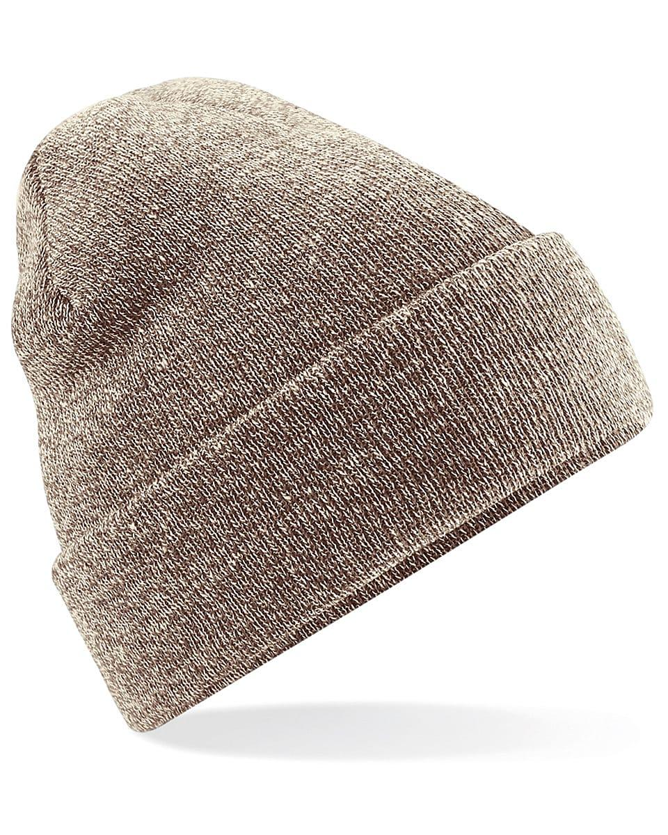 Beechfield Original Cuffed Beanie Hat in Heather Oatmeal (Product Code: B45)