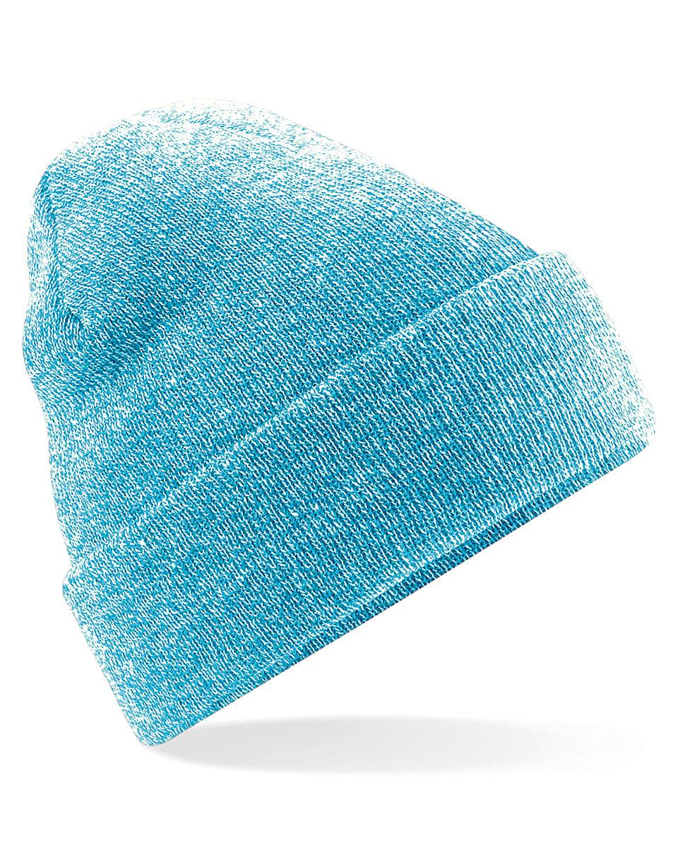 Beechfield Original Cuffed Beanie Hat in Heather Surf (Product Code: B45)