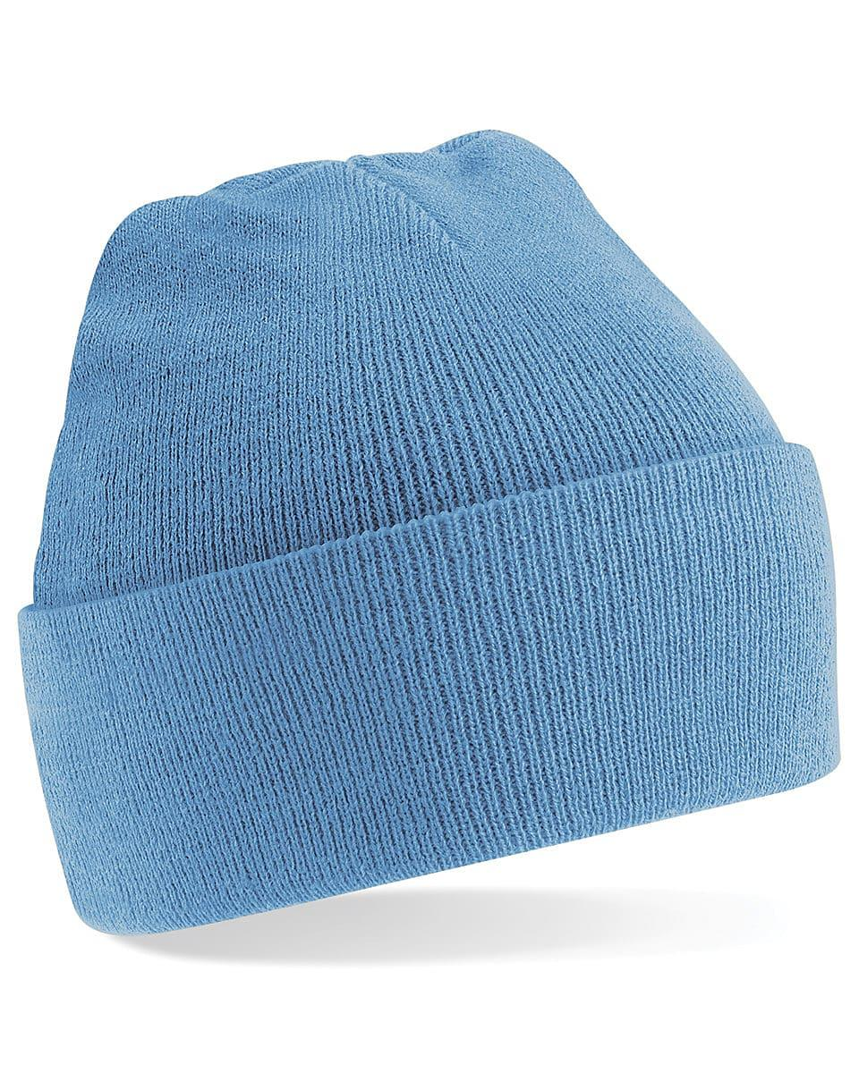 Beechfield Original Cuffed Beanie Hat in Sky Blue (Product Code: B45)
